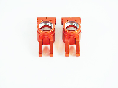 050007 Achsschenkel hinten Aluminium orange 2 Stueck
