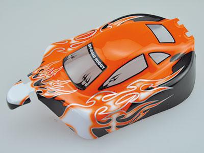 10070-1 1:10 Karosserie RC Cars Booster Orange