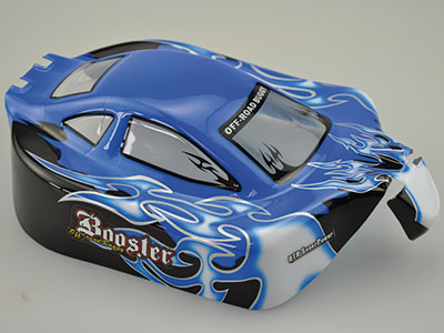 10070-2 1:10 Karosserie RC Cars Booster Blau