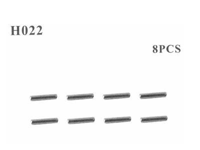 H022 Stifte 2x10 mm 8 Stueck