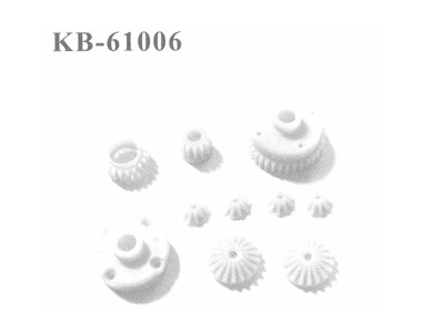 KB-61006 Zahnraeder, 8 Stueck Differential + Getriebe