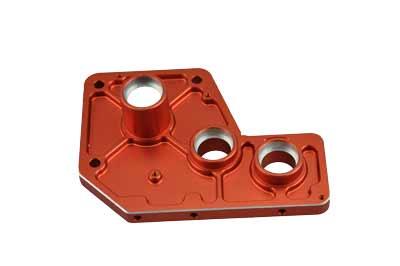 050111 Getriebeplatte Aluminium orange