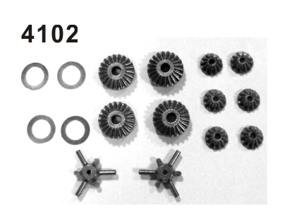 4102 Differentialgetriebe Set Kompl