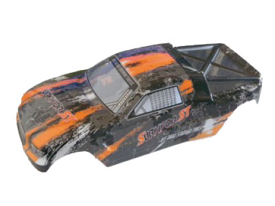 12684 Karosserie RC Cars orange EVO 4T