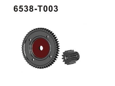 6538-T003 Hauptzahnrad + Motorritzel Sta